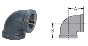 Ductile iron threaded fittings